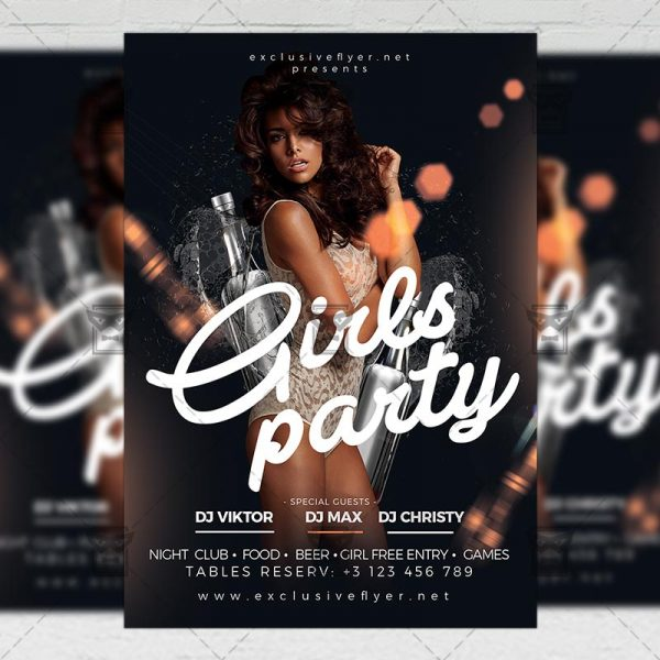 Download Girls Party Night PSD Flyer Template Now