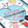 Download Happy Friendship Day PSD Flyer Template Now