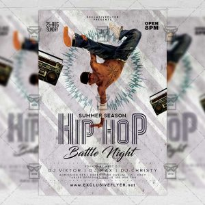 Download Hip Hop Battle Night PSD Flyer Template Now