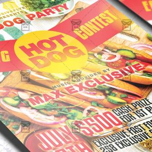 Download Hot Dog Eating Contest PSD Flyer Template Now
