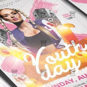Download International Youth Day PSD Flyer Template Now