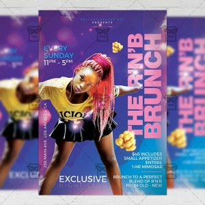 Download R'n'B Brunch PSD Flyer Template Now