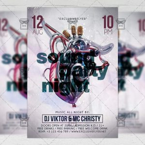 Download Sound Party Night PSD Flyer Template Now
