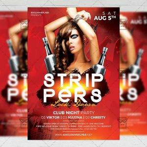 Download Strippers Lock Down PSD Flyer Template Now
