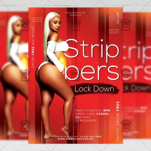Download Strippers Party PSD Flyer Template Now