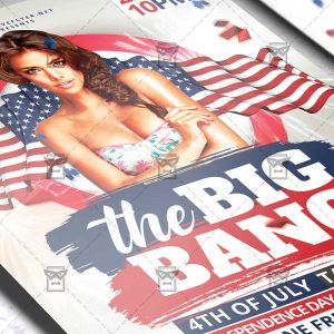 Download The Big Bang Party PSD Flyer Template Now
