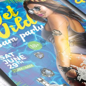 Download Wet and Wild Party PSD Flyer Template Now