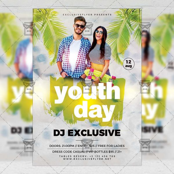 Download Youth Day PSD Flyer Template Now