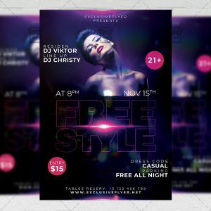 Download FreeStyle Affair PSD Flyer Template Now