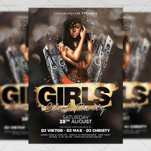 Download Girls Club Party PSD Flyer Template Now