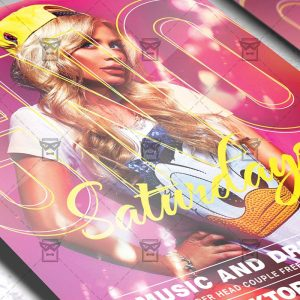 Download GNO Saturdays PSD Flyer Template Now