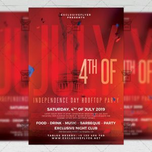 Download Independence Day Rooftop Party PSD Flyer Template Now