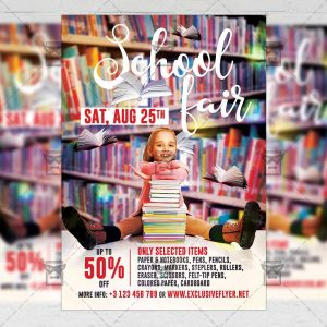 Download School Fair PSD Flyer Template Now