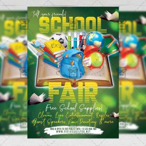 Download School Fair 2019 PSD Flyer Template Now