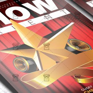 Download Show Talent PSD Flyer Template Now