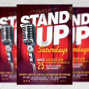 Download Stand Up Saturdays PSD Flyer Template Now