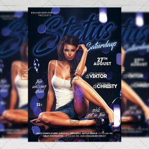 Download Status Saturdays PSD Flyer Template Now