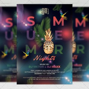 Download Summer Nights Party PSD Flyer Template Now