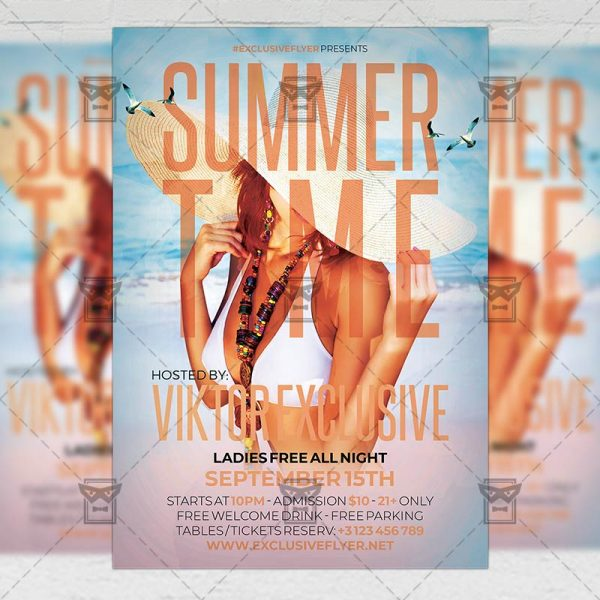Download Summer Time Nights PSD Flyer Template Now