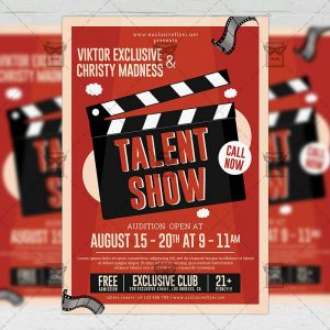 Download Talent Show PSD Flyer Template Now