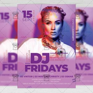 Download Dj Fridays PSD Flyer Template Now