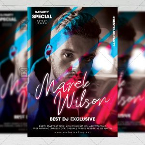 Download Featuring Guest Dj PSD Flyer Template Now