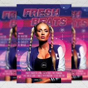Download Fresh Beats PSD Flyer Template Now
