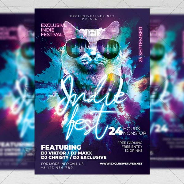 Download Indie Fest PSD Flyer Template Now