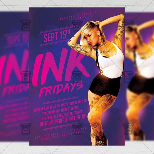 Download Ink Fridays PSD Flyer Template Now