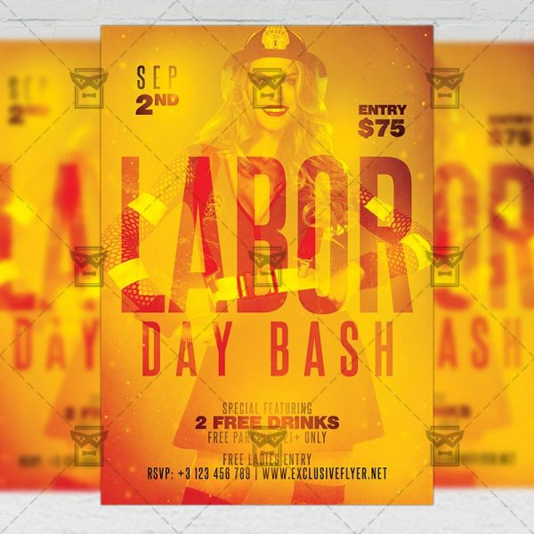 Download Labor Day Bash Flyer PSD Flyer Template Now