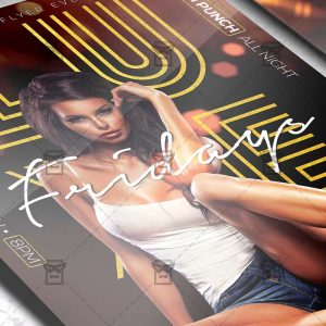 Download Luxe Fridays PSD Flyer Template Now