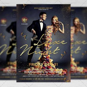 Download Luxe Nights PSD Flyer Template Now