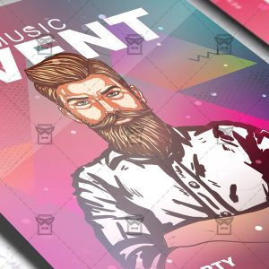Download Music Event PSD Flyer Template Now