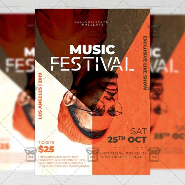 Download Music Festival PSD Flyer Template Now