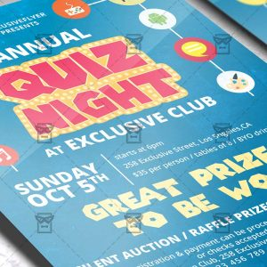Download Quiz Night PSD Flyer Template Now