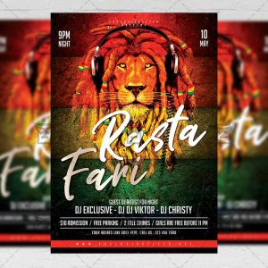 Download Rastafari PSD Flyer Template Now
