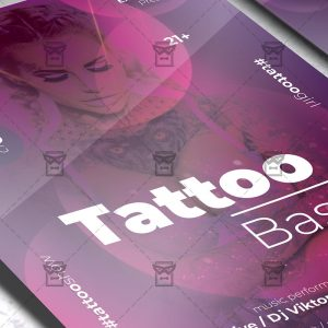 Download Tattoo Bash PSD Flyer Template Now