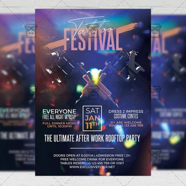 Download Tattoo Festival PSD Flyer Template Now