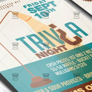 Download Trivia Night Team Party PSD Flyer Template Now