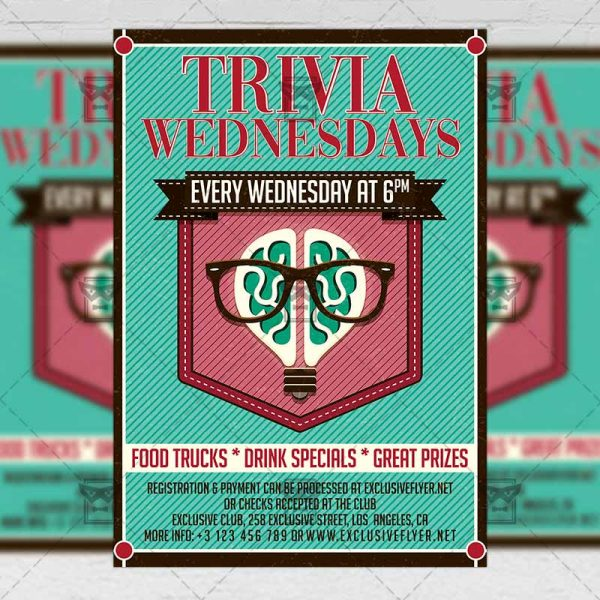 Download Trivia Wednesdays PSD Flyer Template Now
