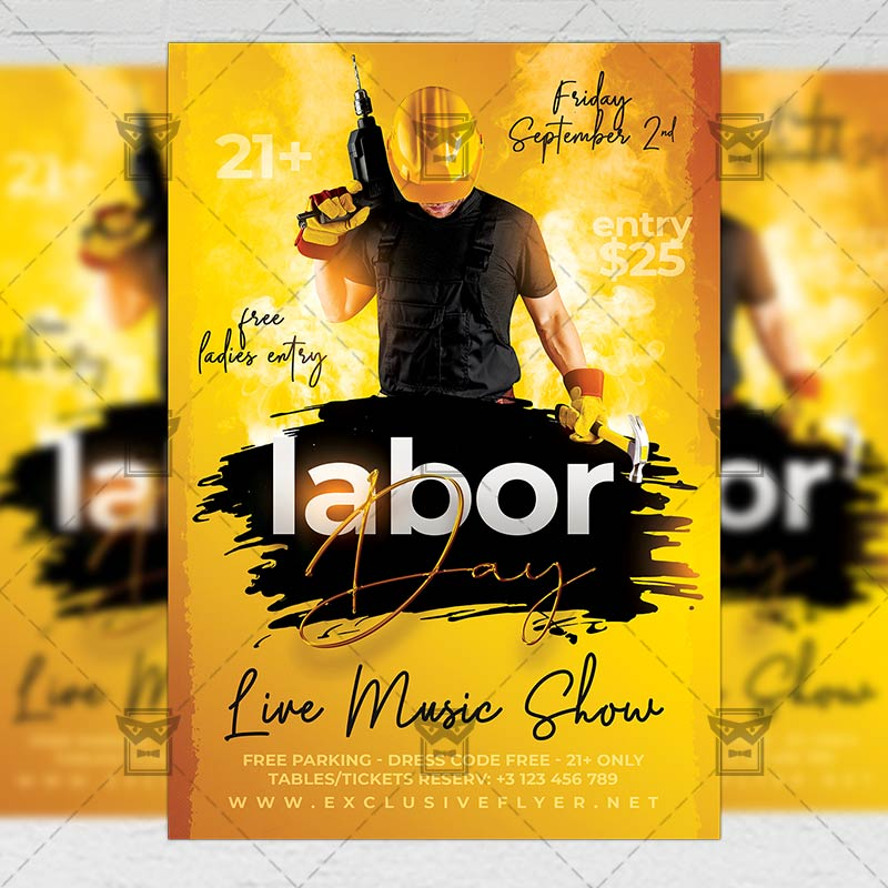 Download USA Labor Day Flyer PSD Flyer Template Now