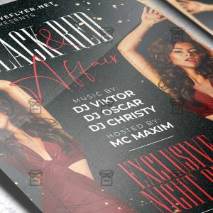 Download Black and Red Affair PSD Flyer Template Now