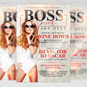 Download Boss Chick Take Over PSD Flyer Template Now
