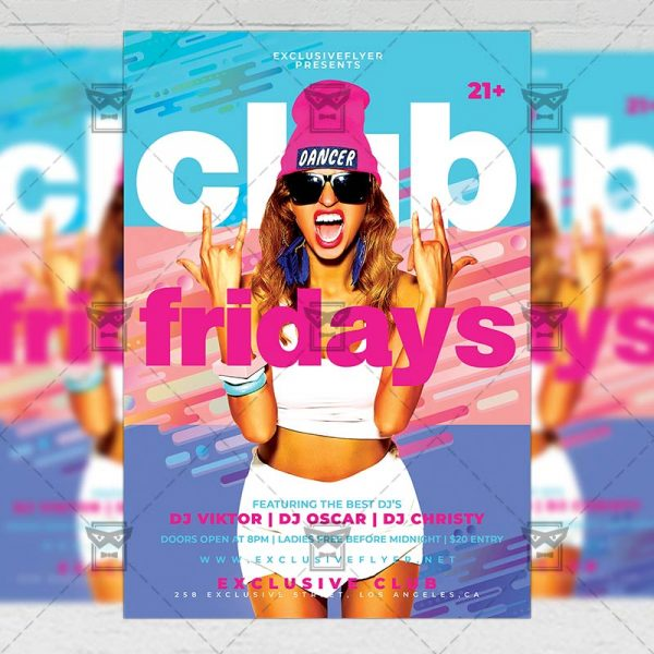 Download Club Fridays PSD Flyer Template Now