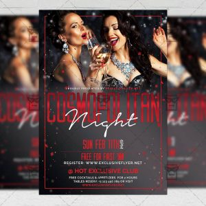 Download Cosmopolitan Night PSD Flyer Template Now