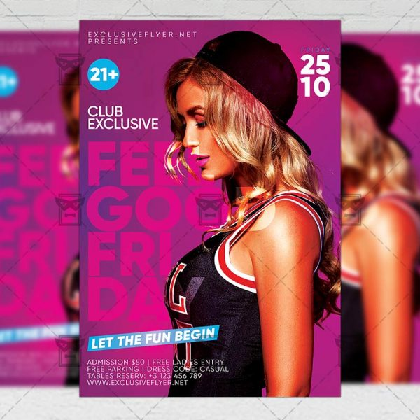 Download Feelgood Friday PSD Flyer Template Now