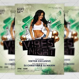 Download Good Vibes Night PSD Flyer Template Now