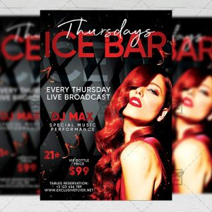 Download Ice Bar Thursdays PSD Flyer Template Now