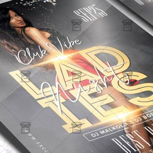 Download Ladies Night Affair PSD Flyer Template Now