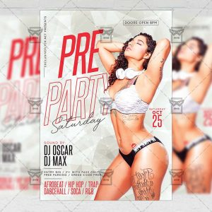 Download Pre Party Saturday PSD Flyer Template Now
